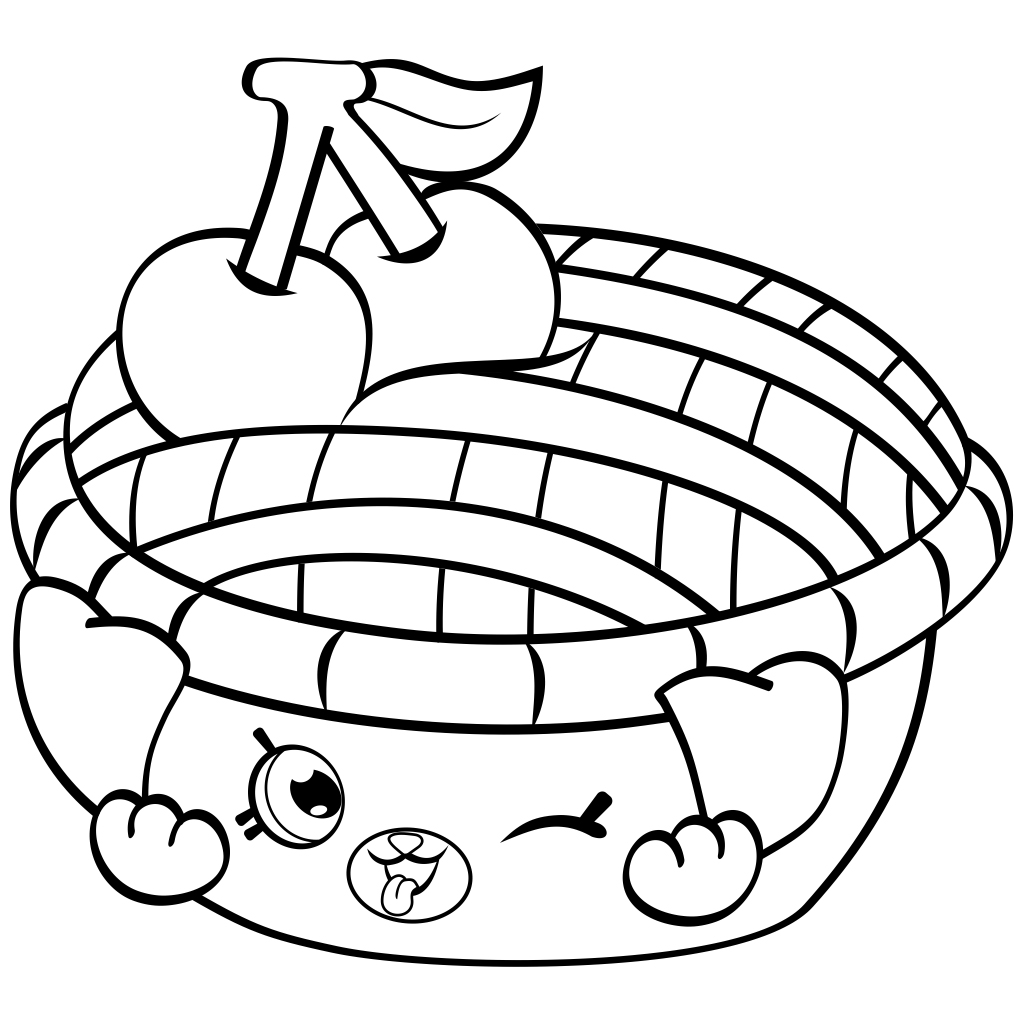 Shy Pie Cherry Coloring Page