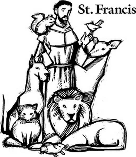 St Francis Coloring Pages