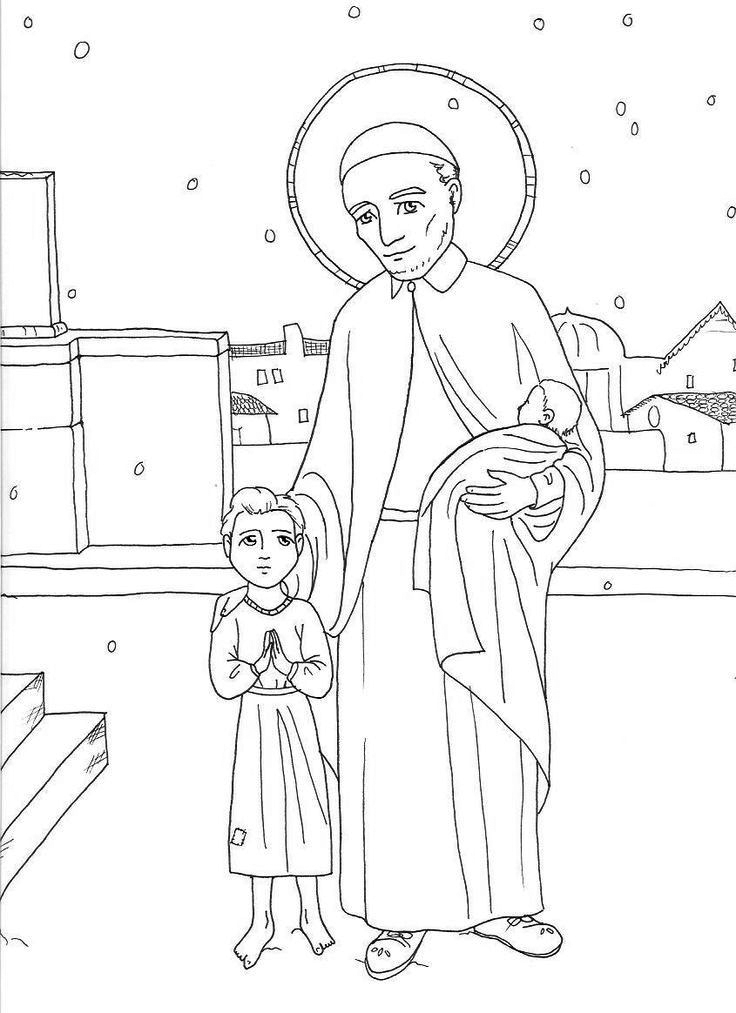 St Francis And Child Coloring Pages