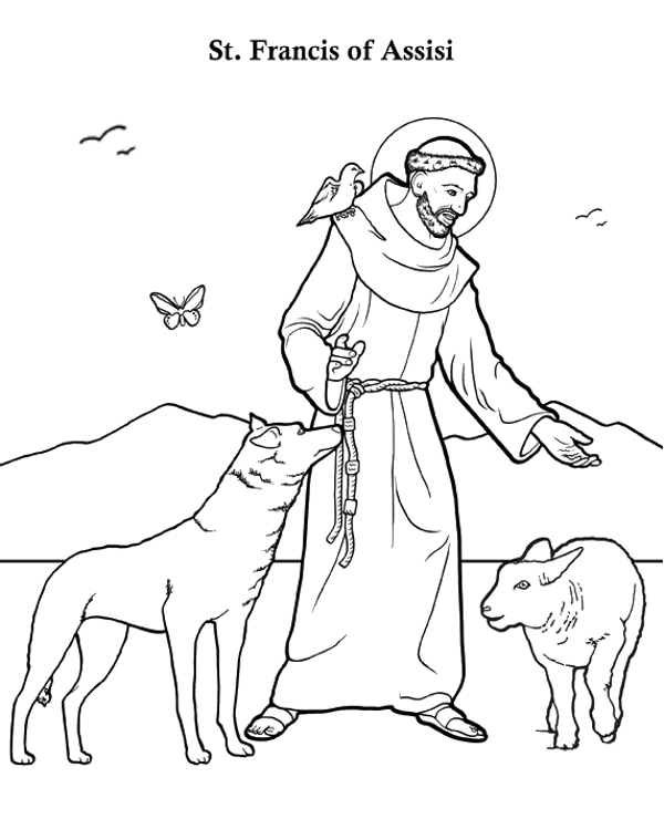 St Francis Of Assisi Coloring Page