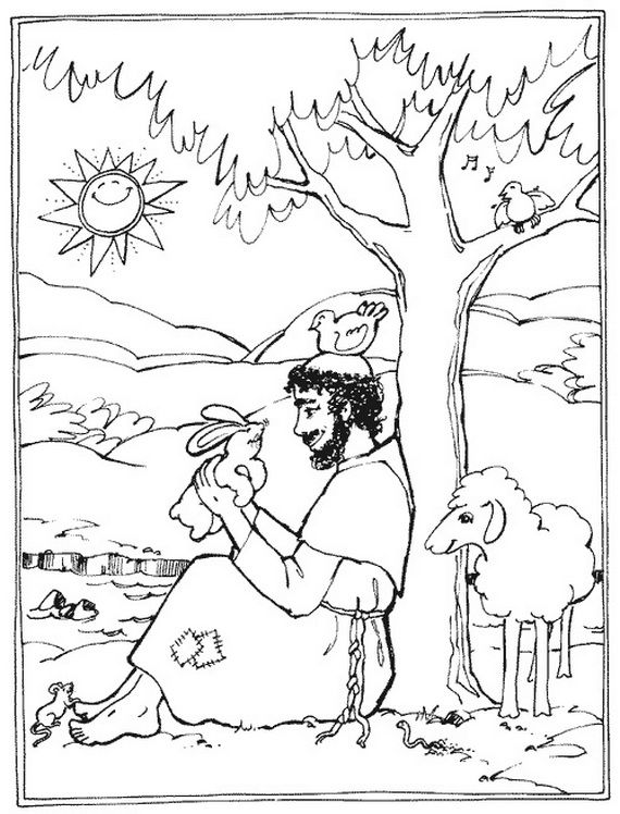 St Francis Of Assisi Coloring Pages