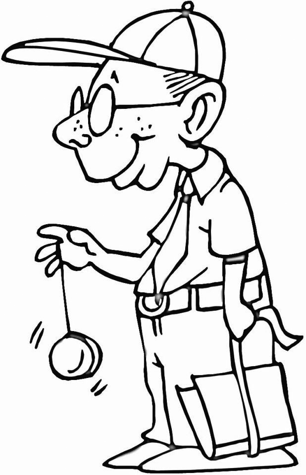Yo Yo Coloring Pages