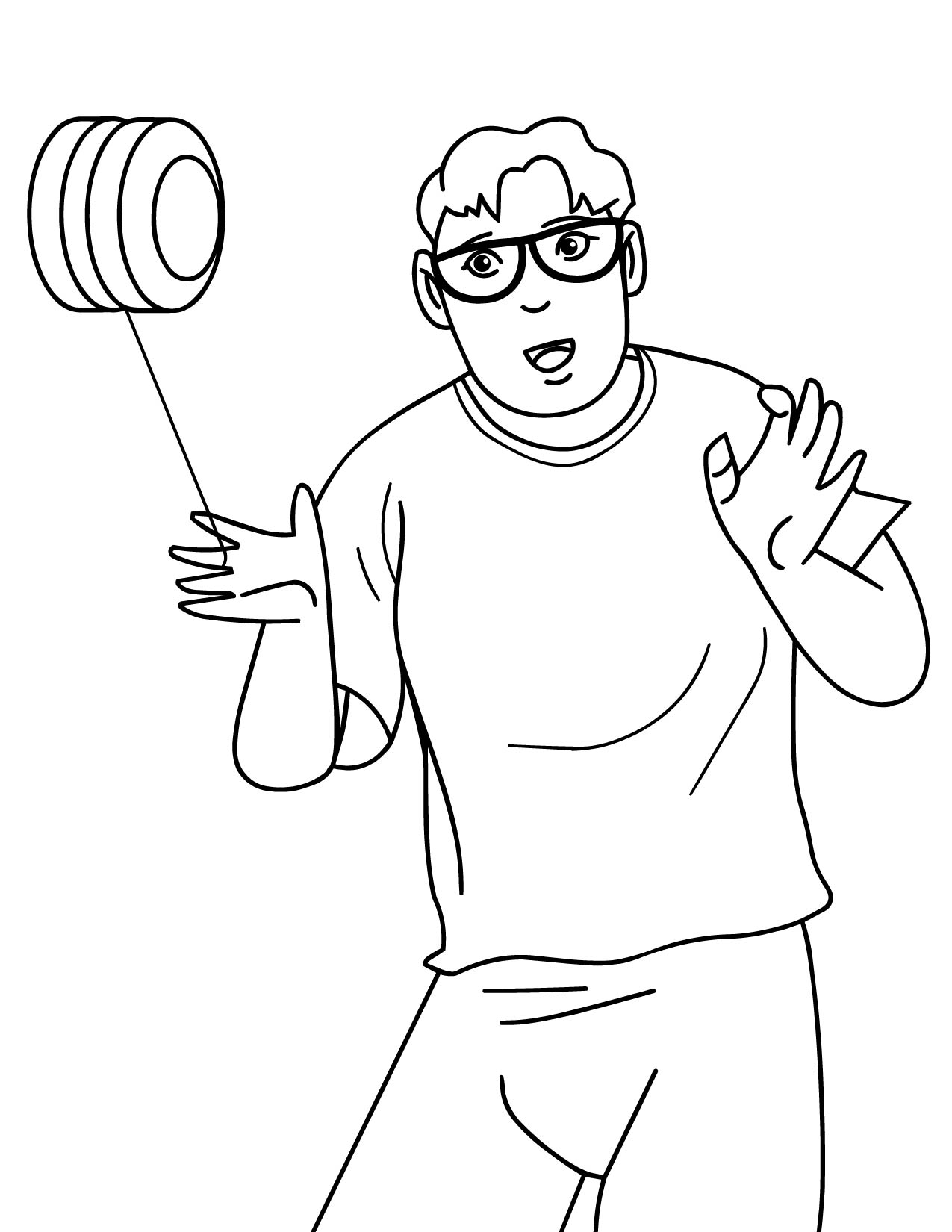 Yo Yo Trick Coloring Pages