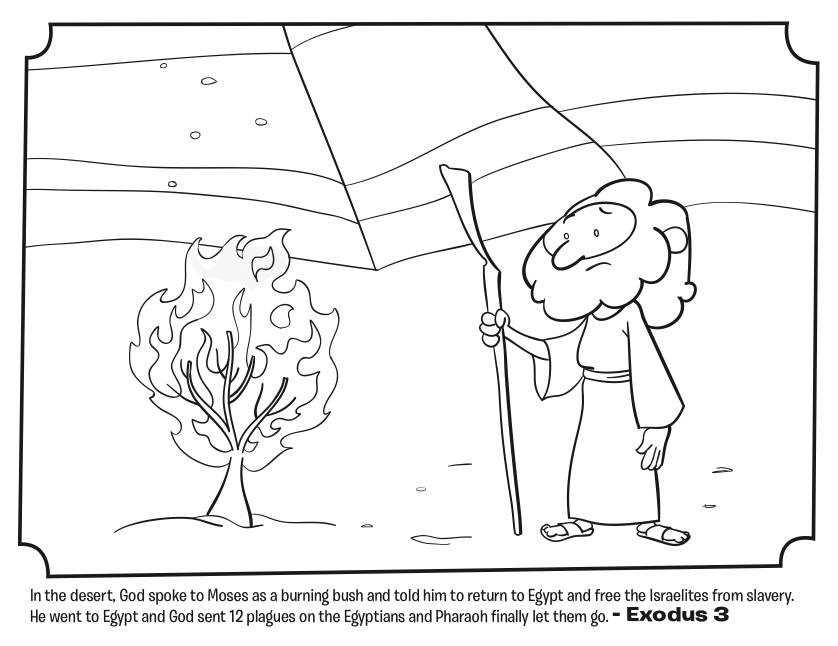Burning Bush Coloring Page