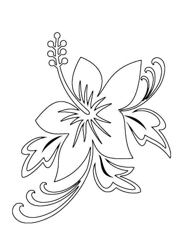 Easy Lily Coloring Pages