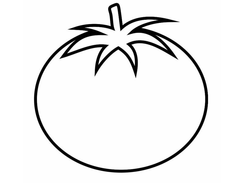 Easy Tomato Coloring Pages