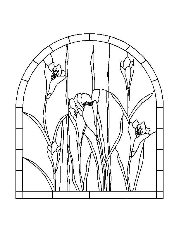 Lily Glass Art Coloring Page