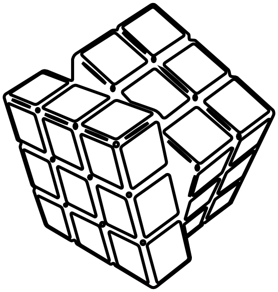 Rubiks Cube Coloring Page Printable
