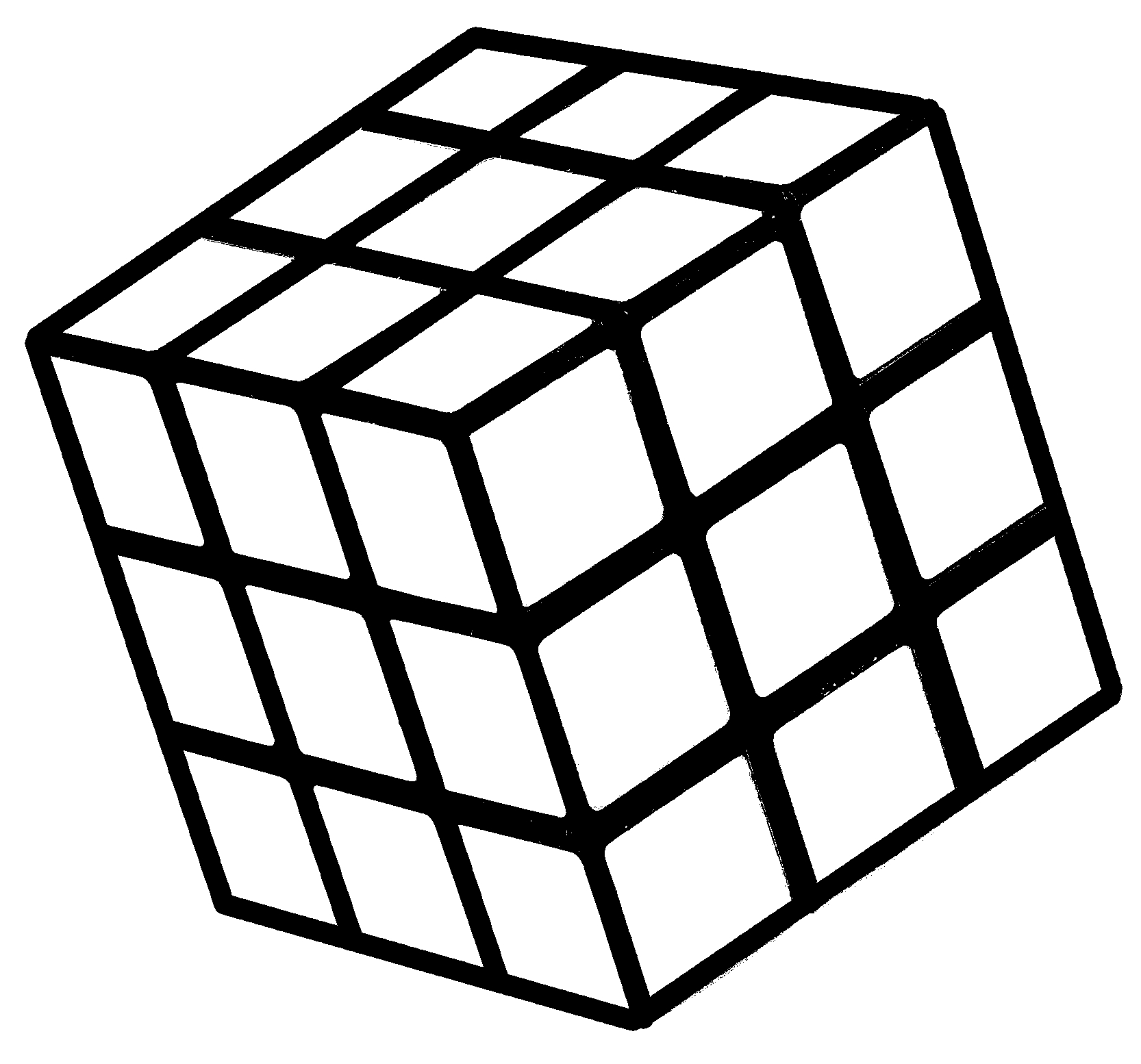 Rubiks Cube Coloring Pages