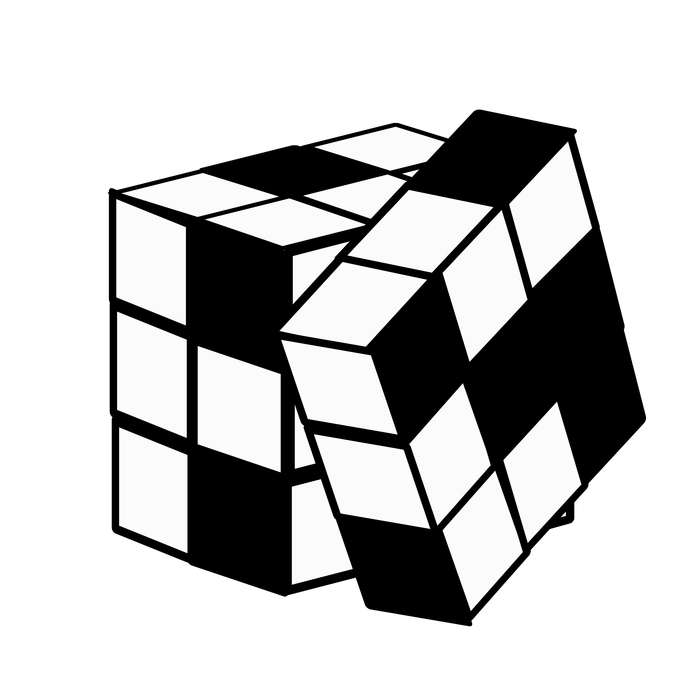 Rubiks Cube Printable Coloring Page