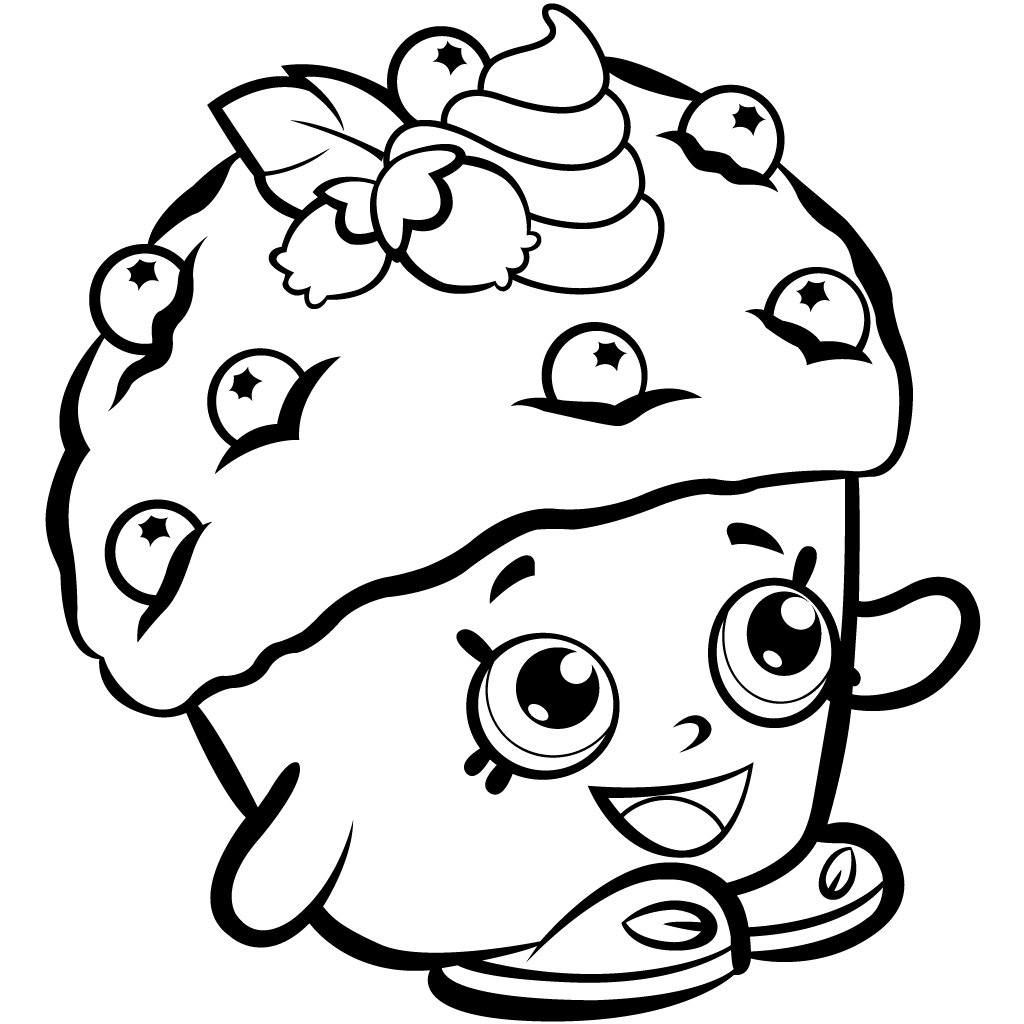 Shopkins Mini Blueberry Muffin Coloring Page