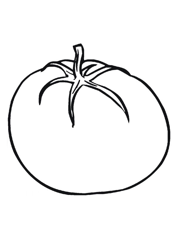Simple Tomato Coloring Page