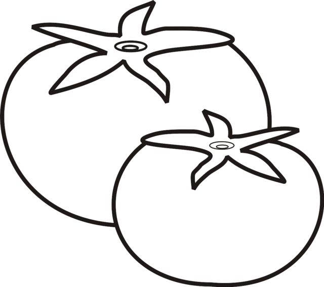 Tomatos Coloring Page