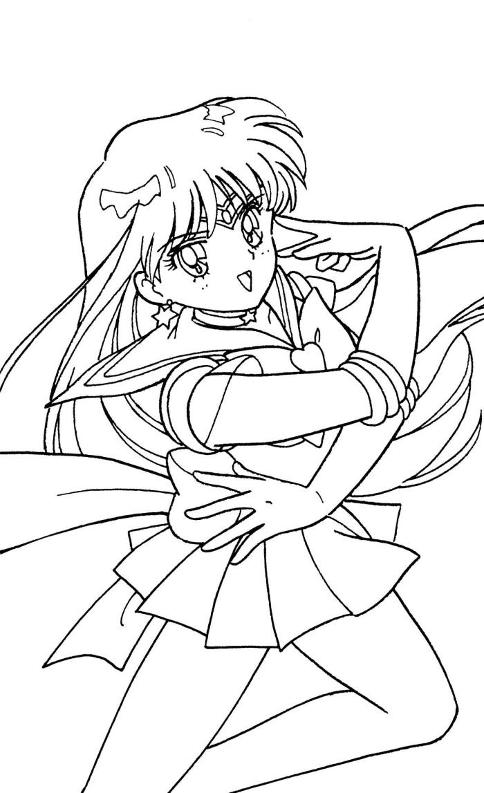 Sailor Moon Series Coloring Pages: Sailor Mars | Dibujos, Colorear ... | 1147x700