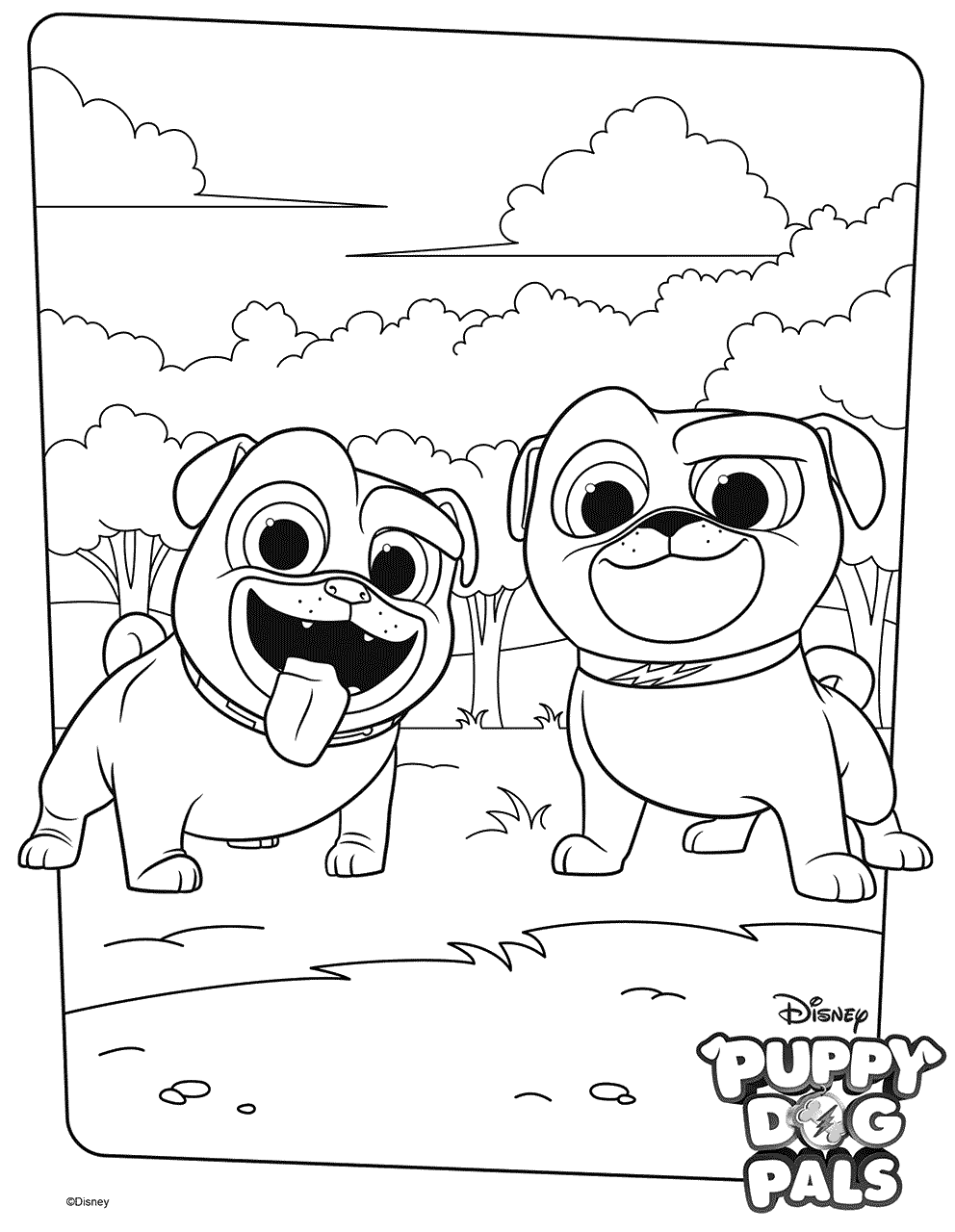 Puppy Dog Pals Coloring Pages Best Coloring Pages For Kids