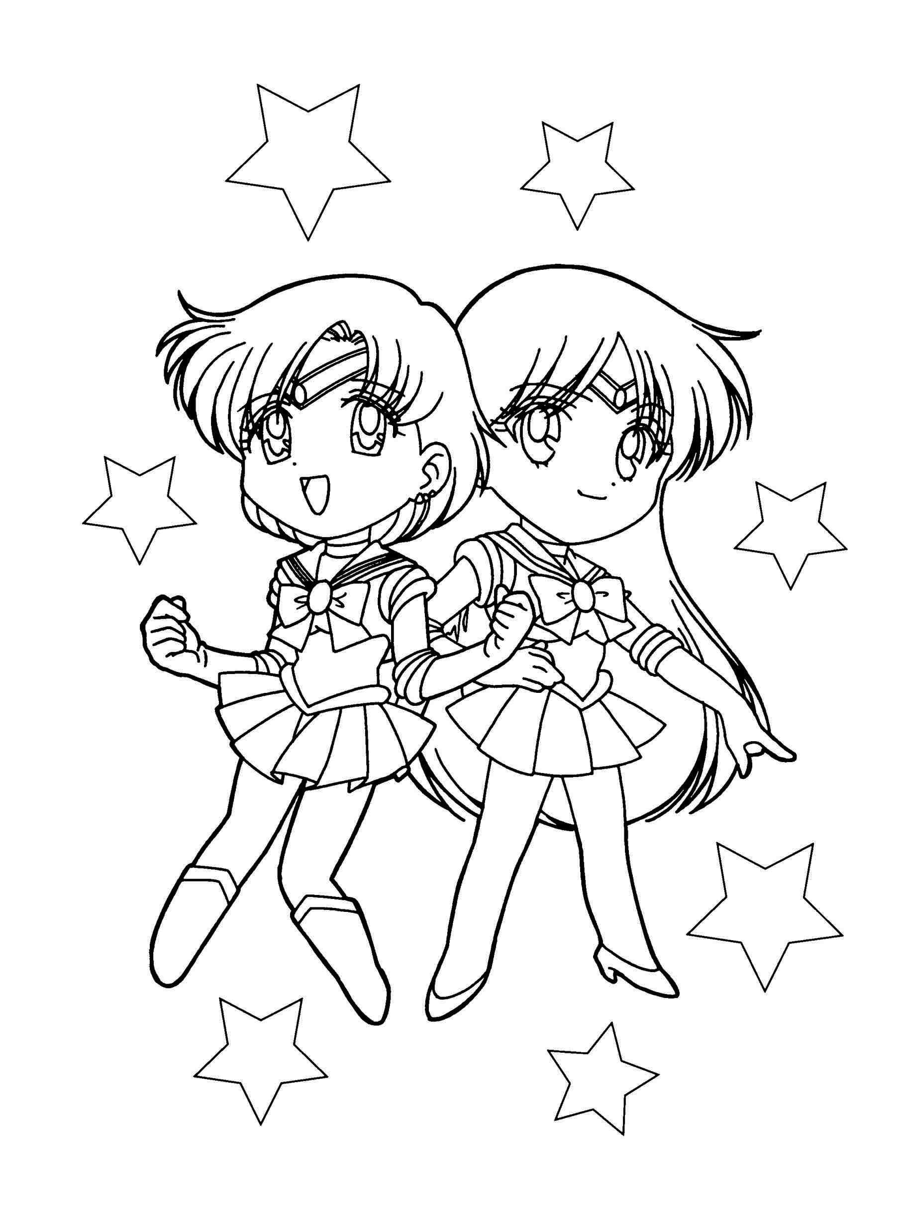 Chibi Sailor Mars Coloring Pages
