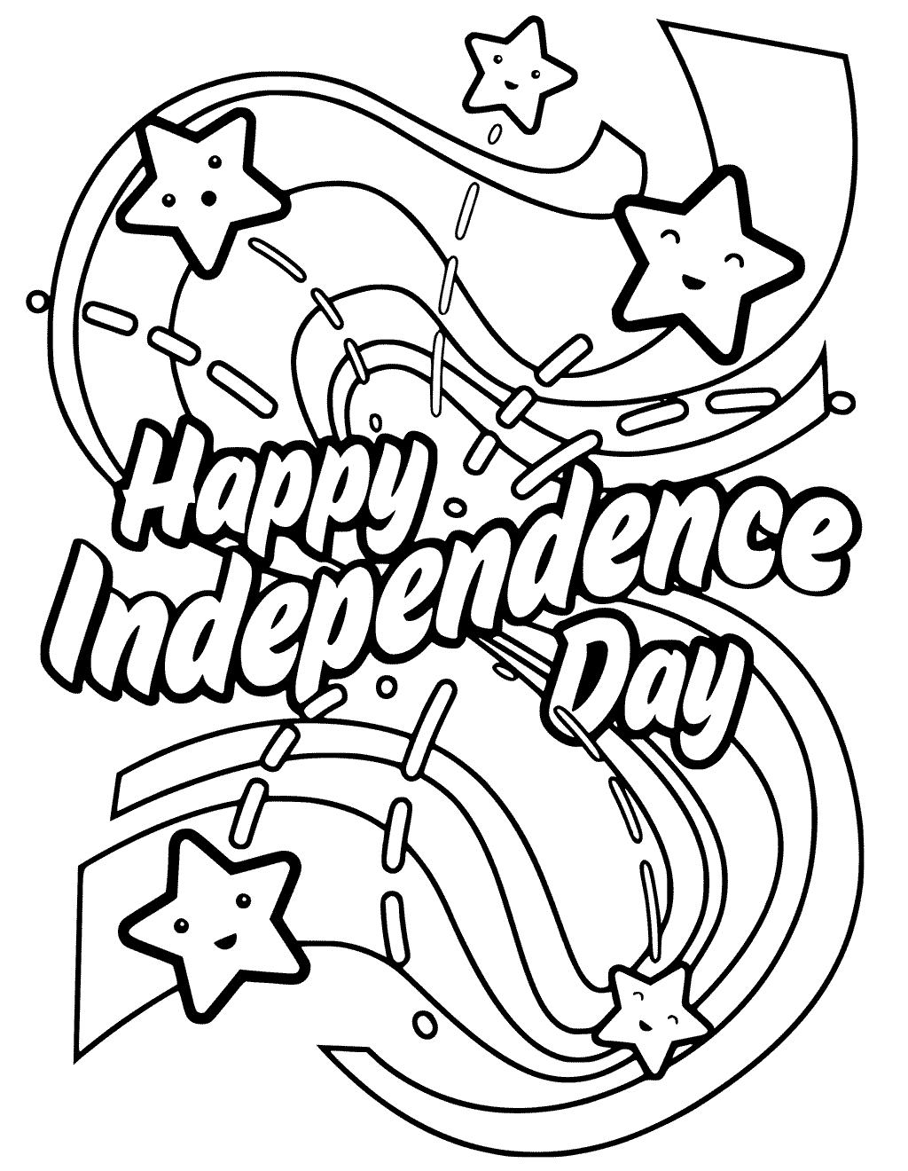 Happy Independence Day Coloring Pages