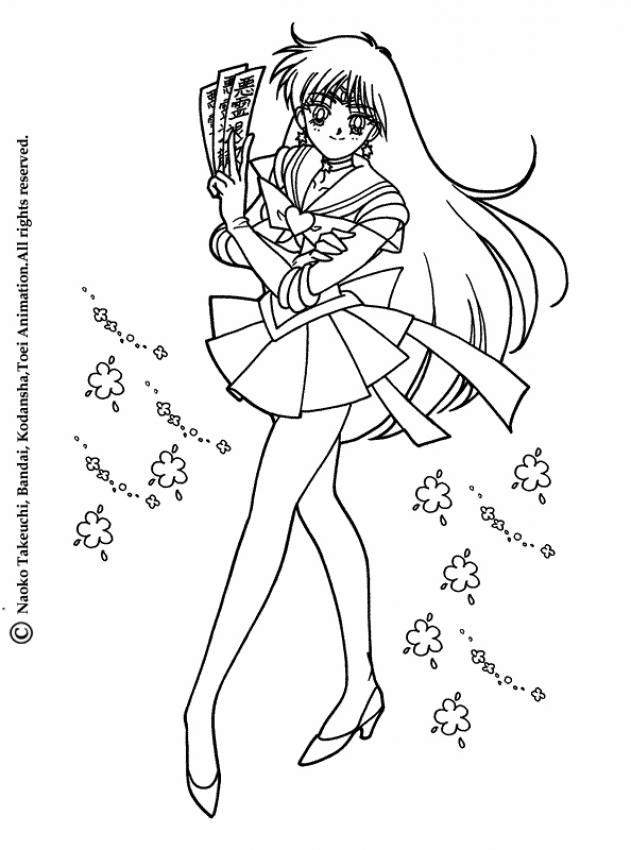 Sailor Moon Sailor Mars Coloring Pages