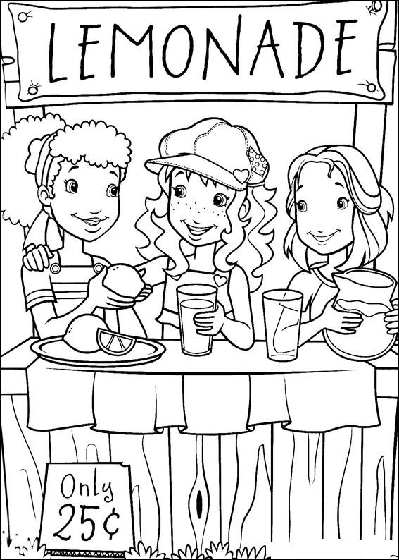 Young Business Lemonade Stand Coloring Page