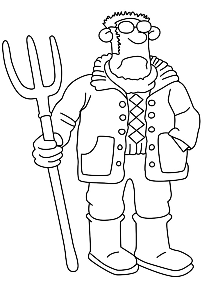 The Farmer Shaun The Sheep Coloring Pages