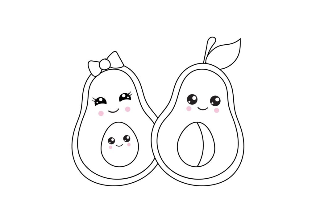 avocado coloring pages best coloring pages for kids best coloring pages for kids