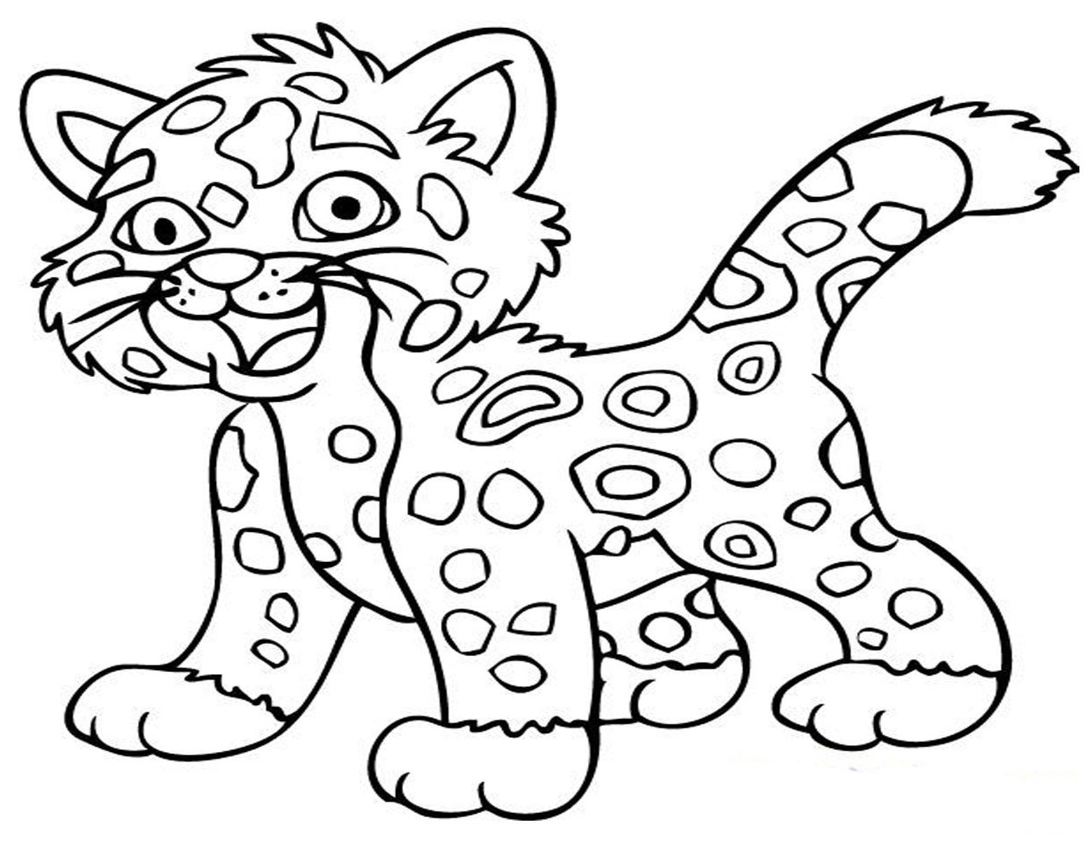 Baby Jaguar Coloring Page