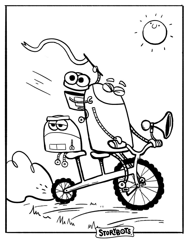 Bike Storybots Coloring Pages