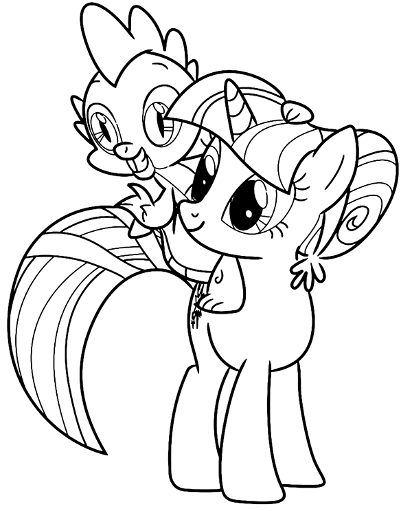 Cute Mlp Spike Coloring Page