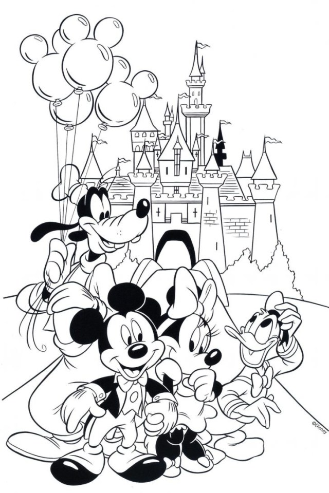 Disney Mickey Mouse Clubhouse Coloring Page