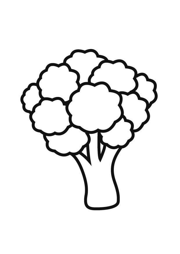 Easy Broccoli Coloring Pages