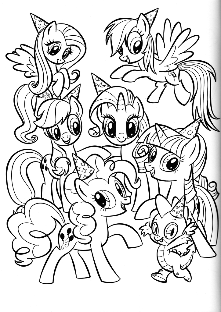 Frienship Is Magic Coloring Pages