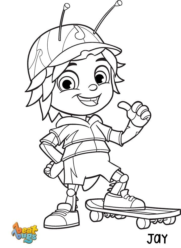 Jay Beat Bugs Coloring Pages