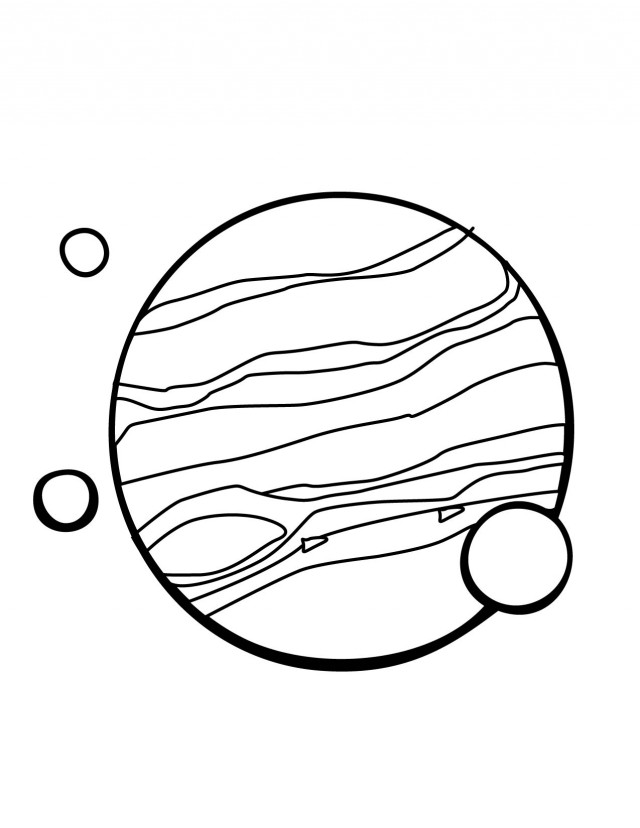 Jupiter And Moons Coloring Pages
