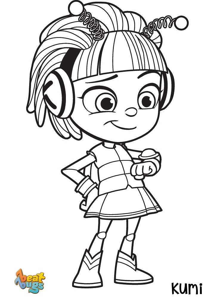 Kumi Beat Bugs Coloring Pages