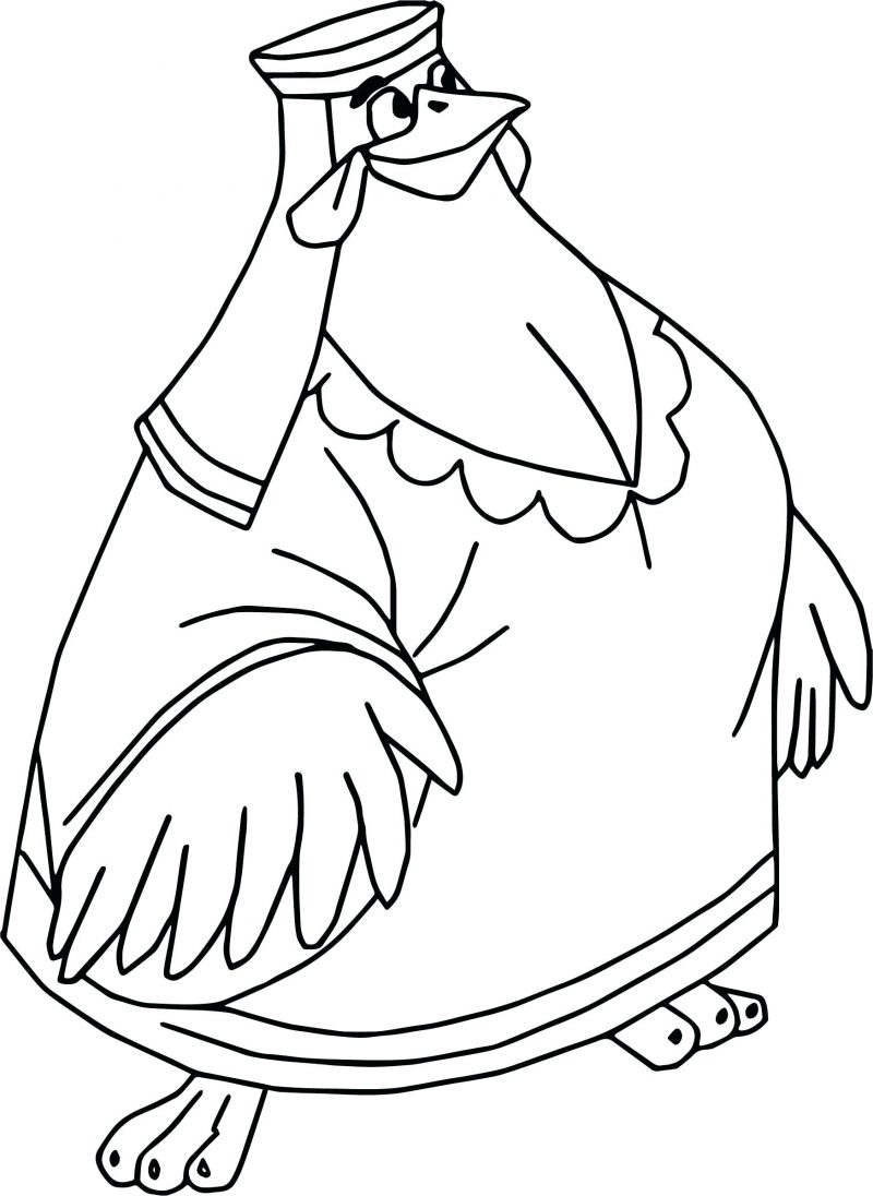 Lady Kluck Robin Hood Coloring Pages