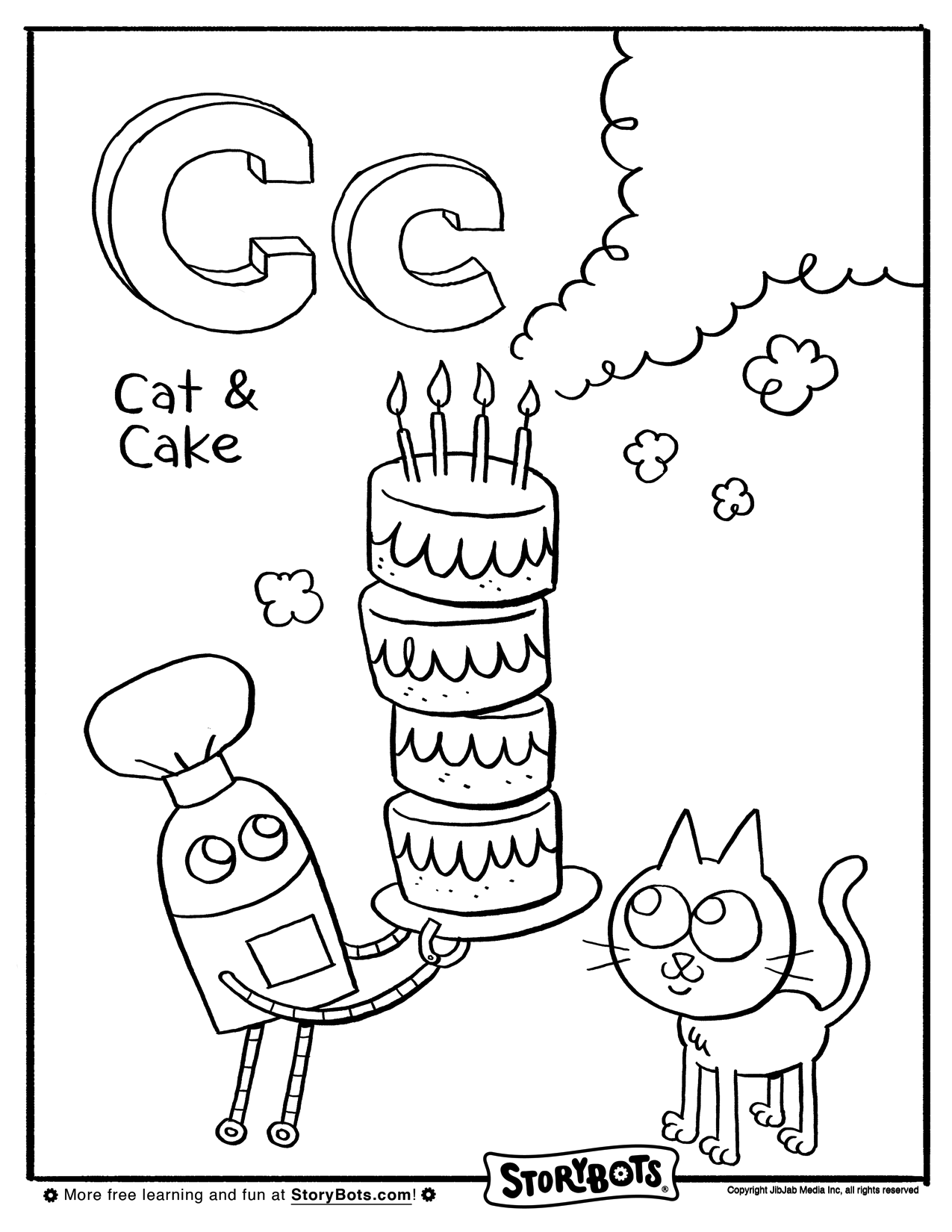 Letter C Storybots Coloring Pages