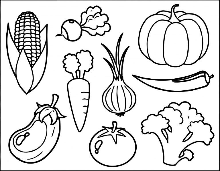 Printable Vegetable Coloring Pages