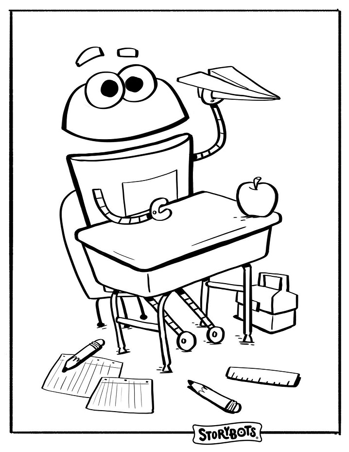 School Storybots Coloring Pages