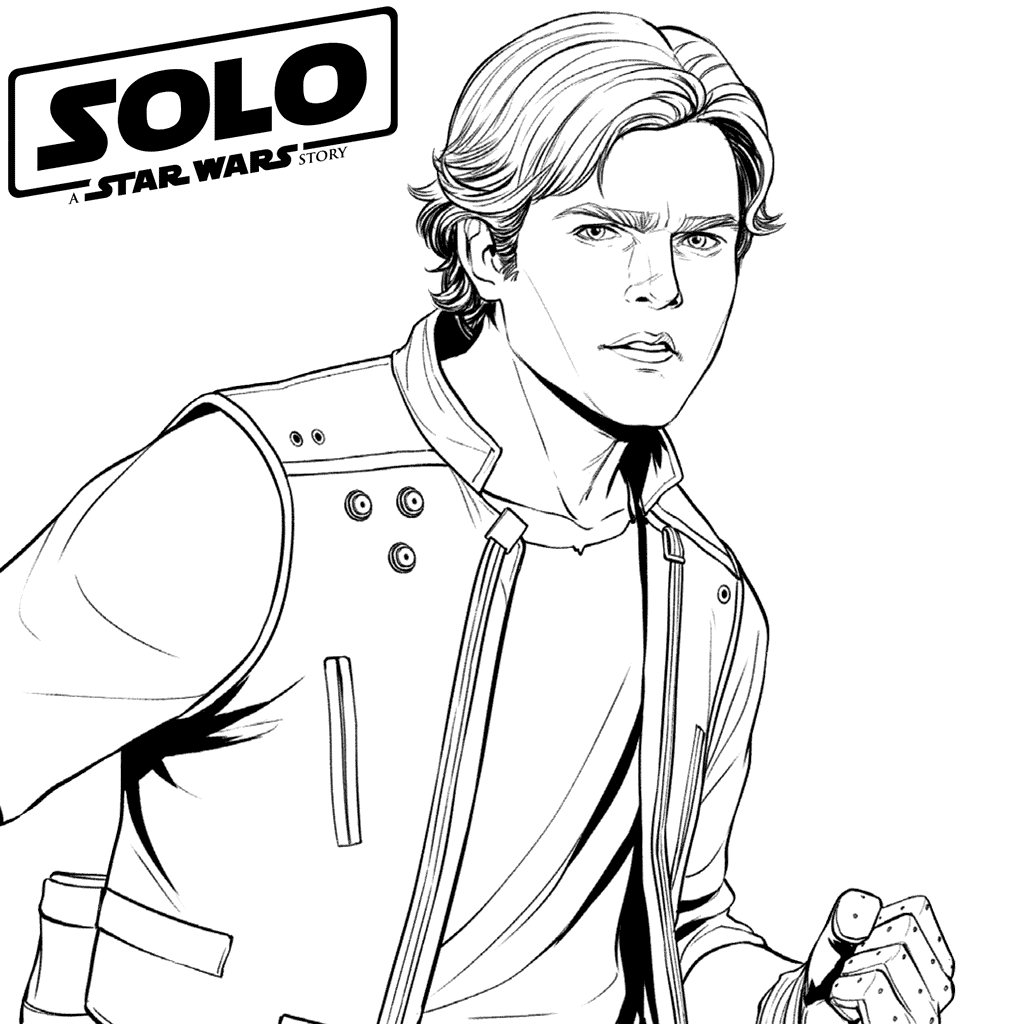 Han Solo Coloring Pages - Best Coloring Pages For Kids