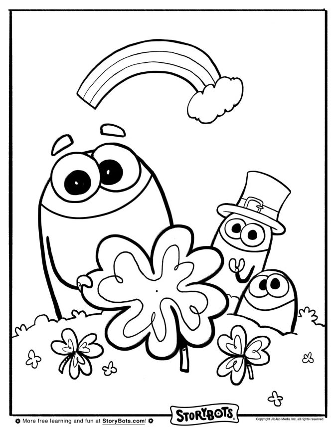 St Patricks Storybots Coloring Pages