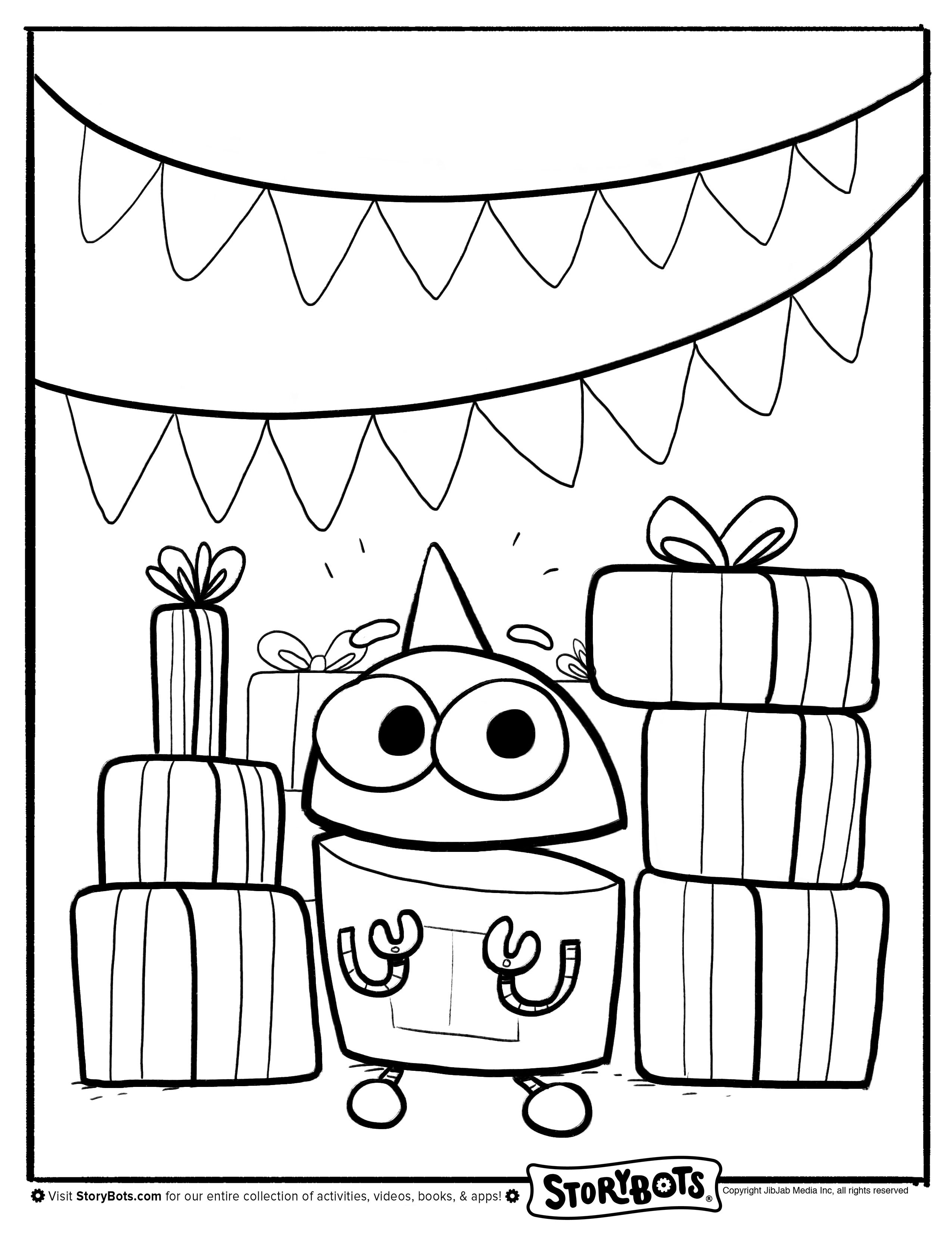 Storybots Coloring Pages