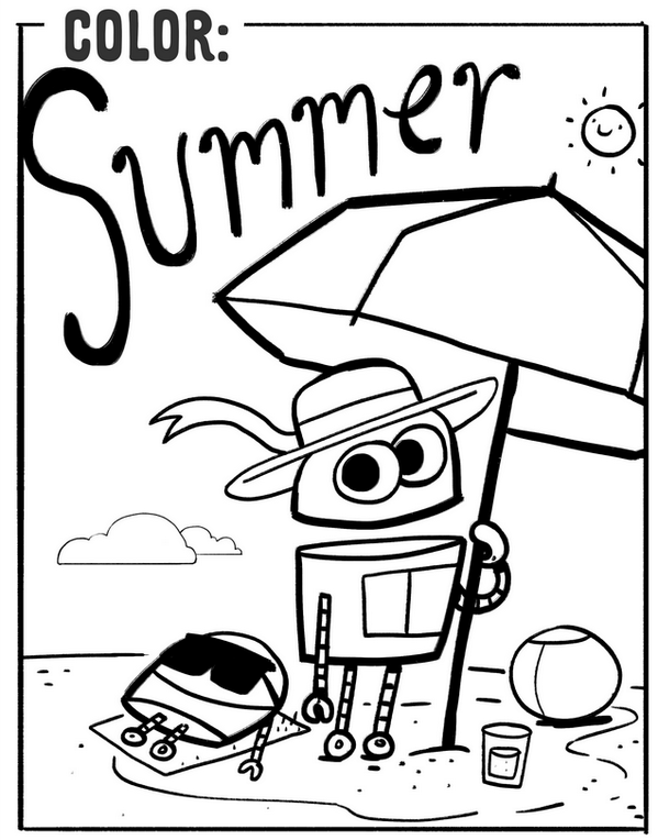 Summer Storybots Coloring Pages