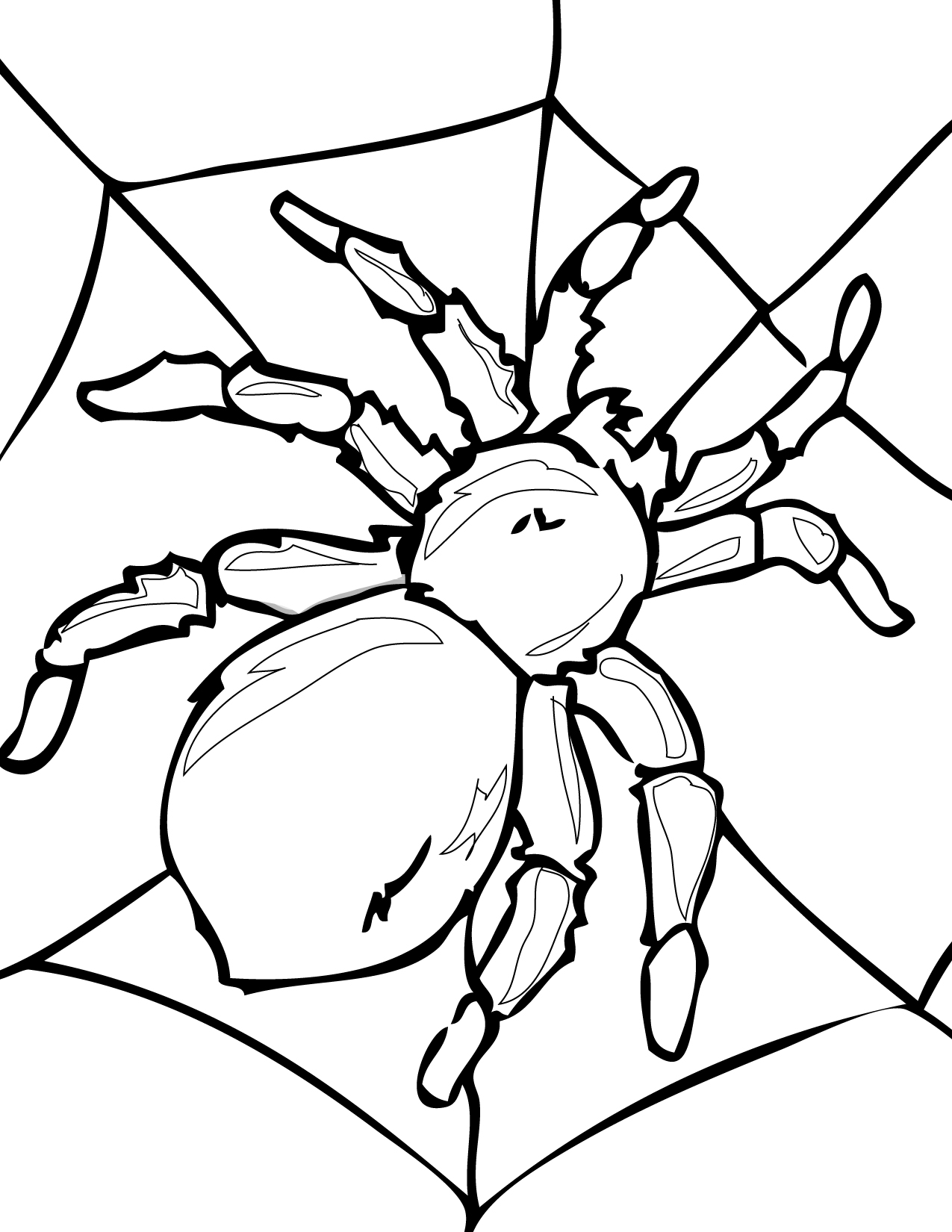 Tarantula Printable Coloring Pages