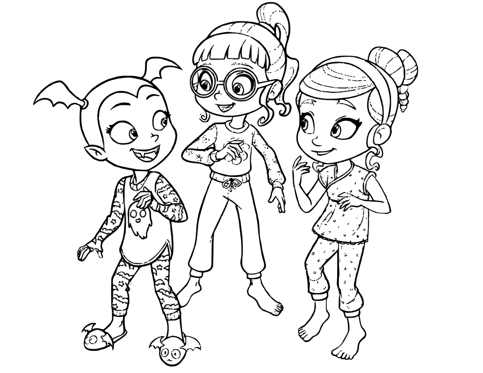 Vampirina Ghoul Girls Coloring Pages