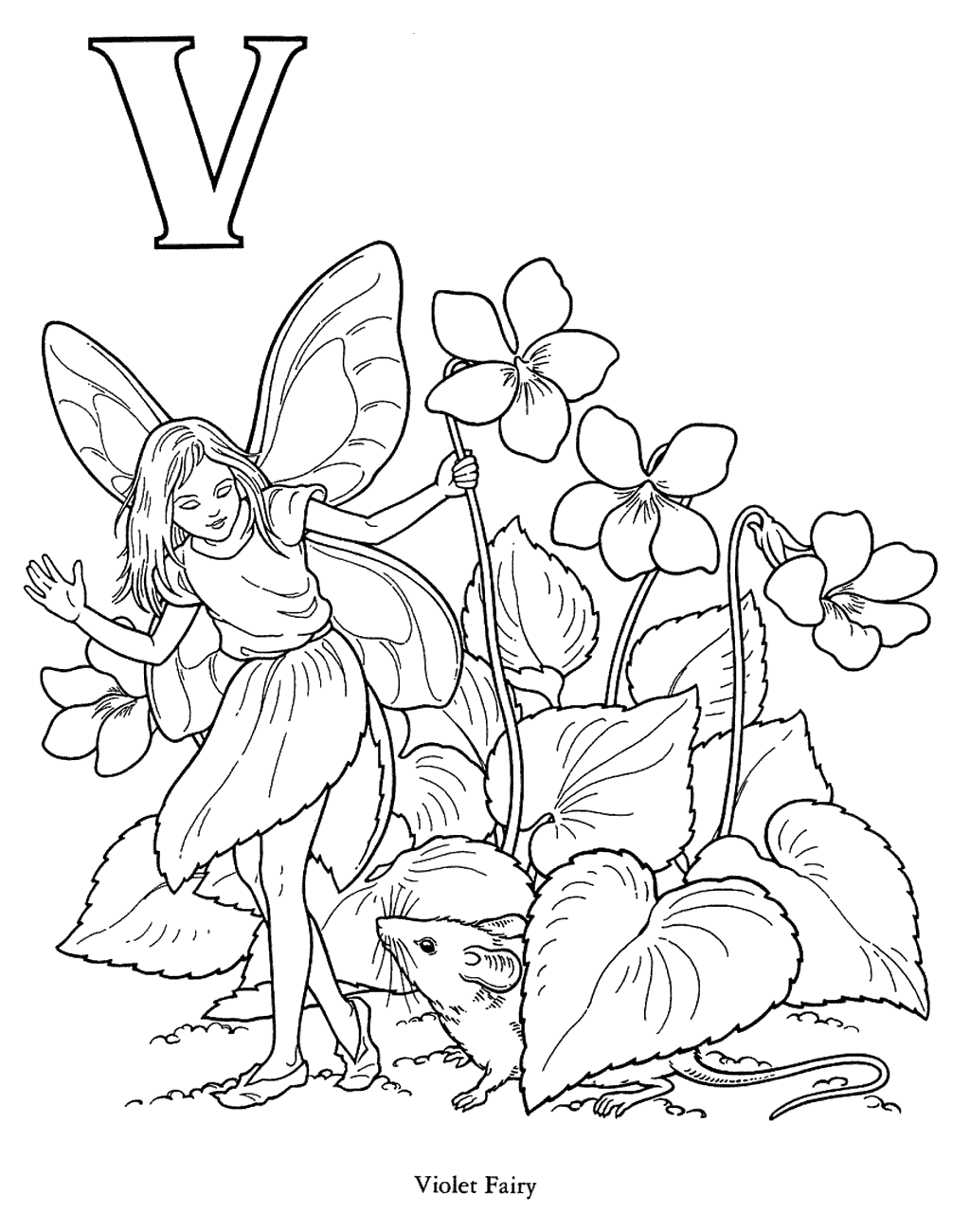 Violet Fairy Coloring Page