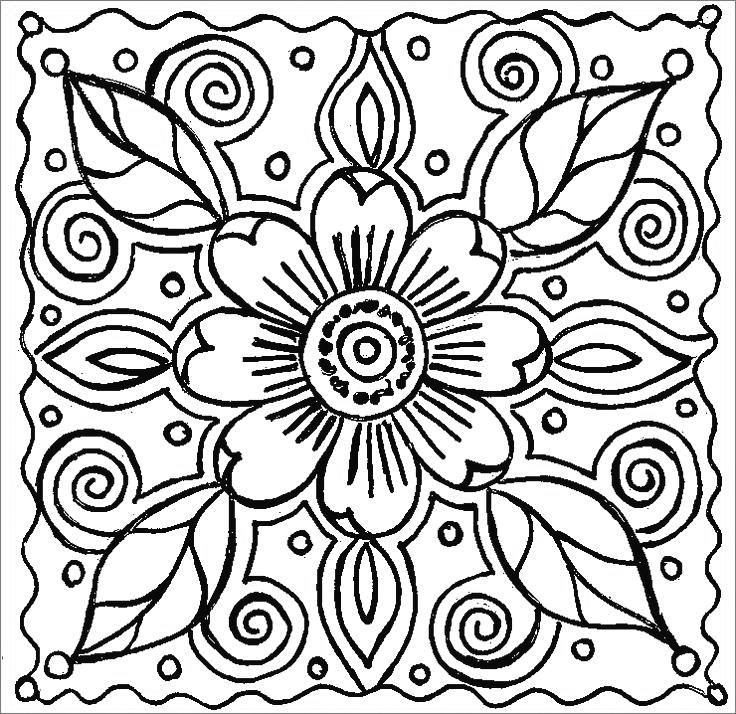 Violet Pattern Coloring Pages