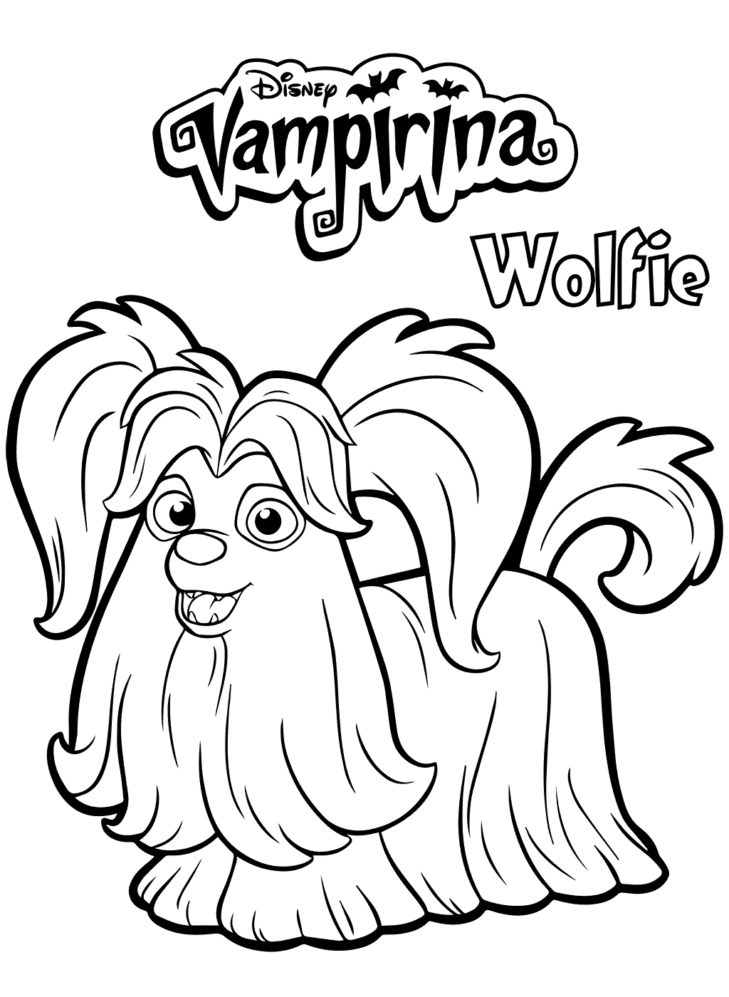 Wolfie Vampirina Coloring Pages