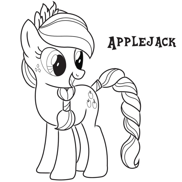Applejack Frienship Coloring Page