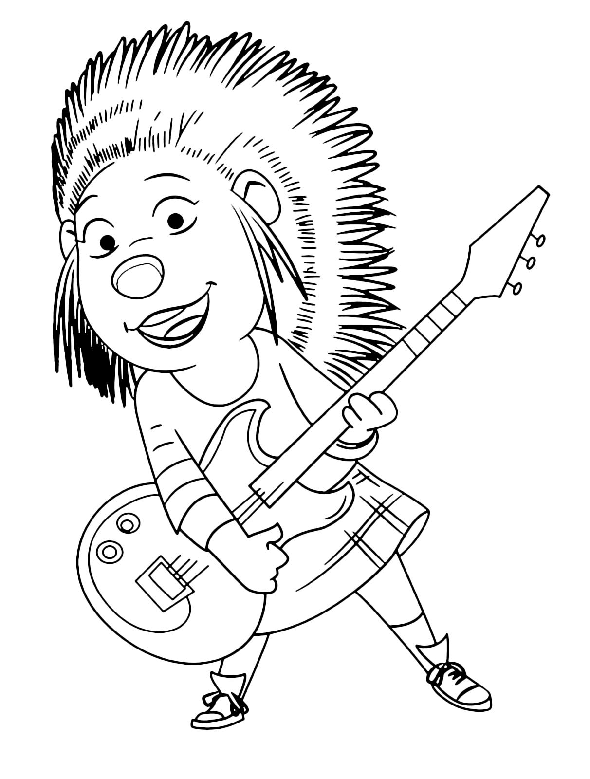 Ash Porcupine Coloring Page