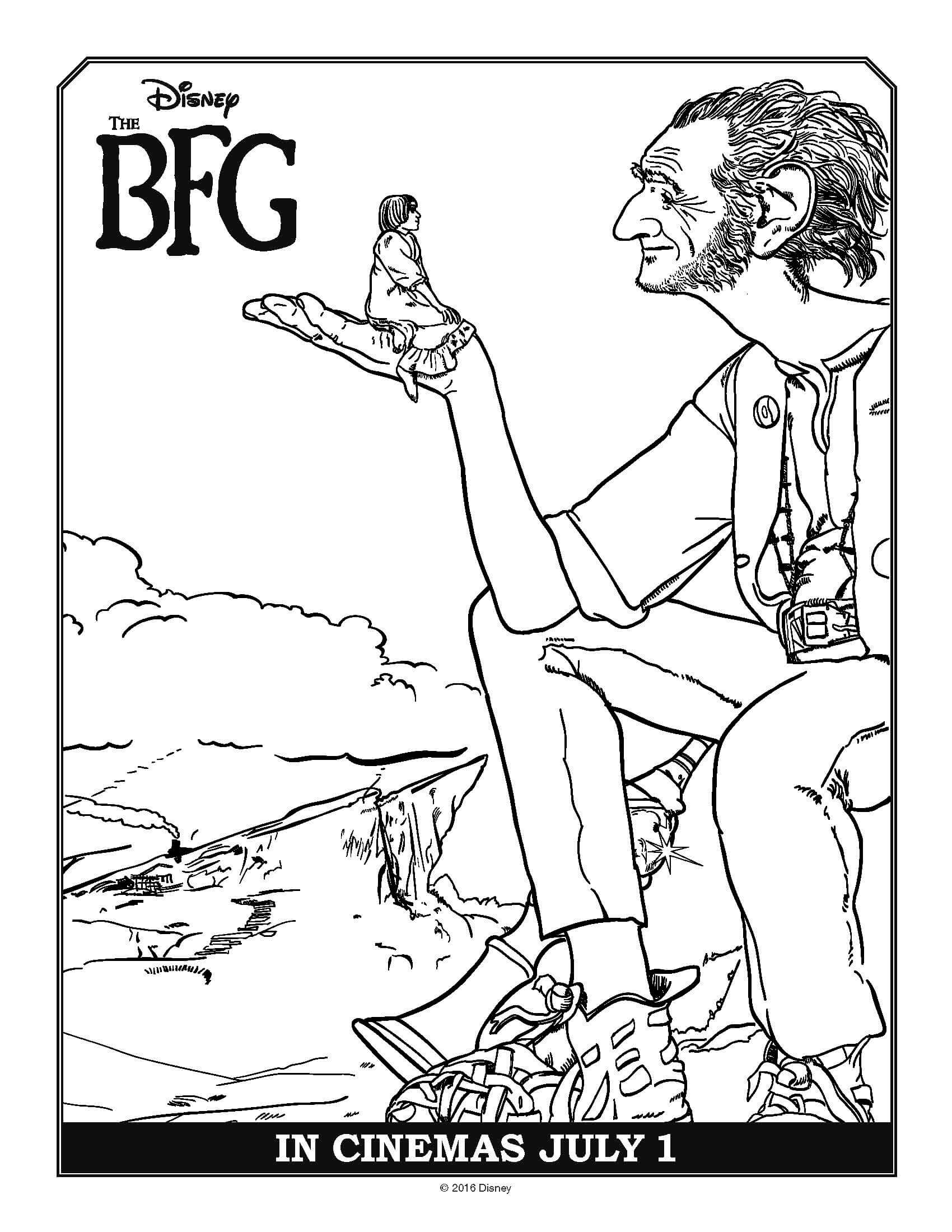Bfg Movie Coloring Page